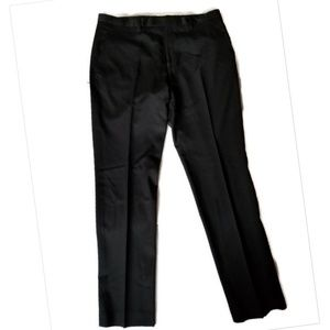 Ted Baker Flat Front Wool Trousers